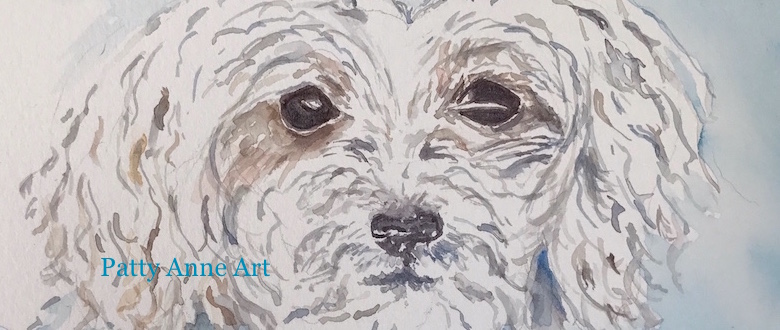 780x330 Cute Puppy Watercolor Process Patty Anne Art