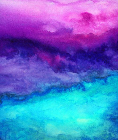 Purple Blue Watercolor