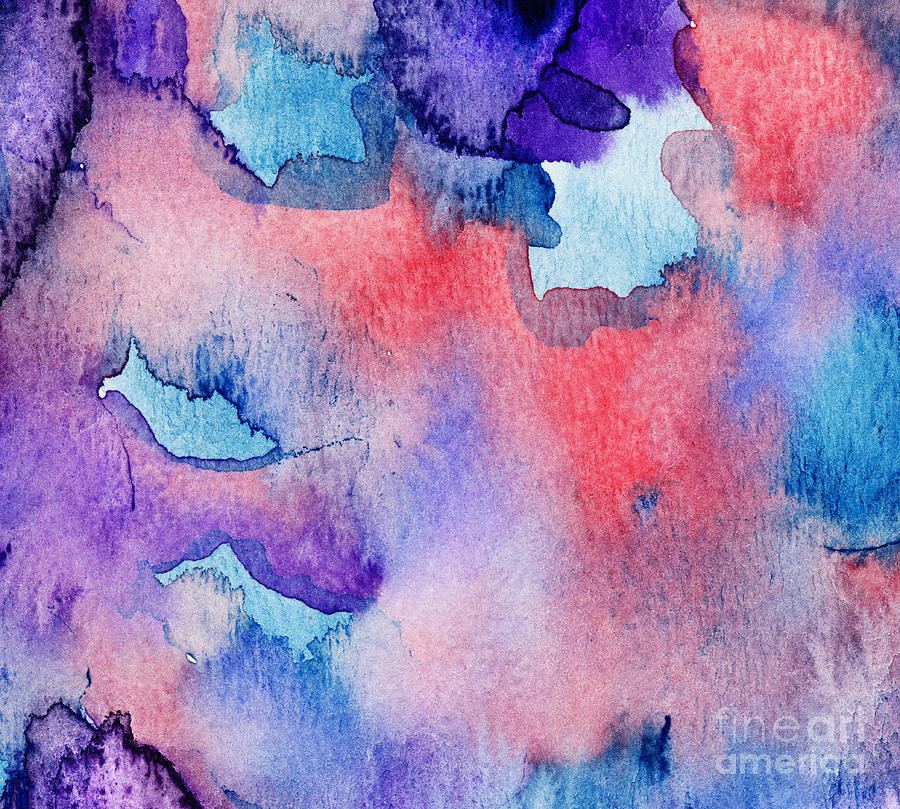 900x809 Blue Red Purple Watercolor Painting By Andrea Gingerich