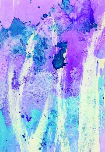 450x650 Blue And Purple Abstract Watercolor By Lynnette Prock