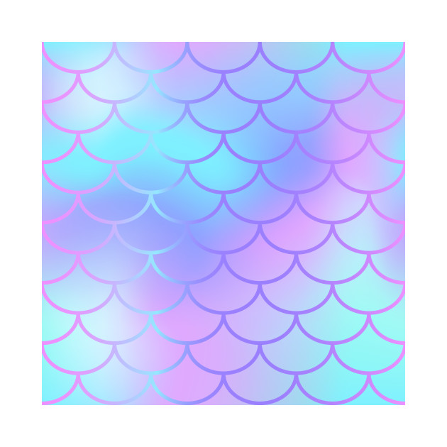 630x630 Purple Blue Watercolor Mermaid Pattern
