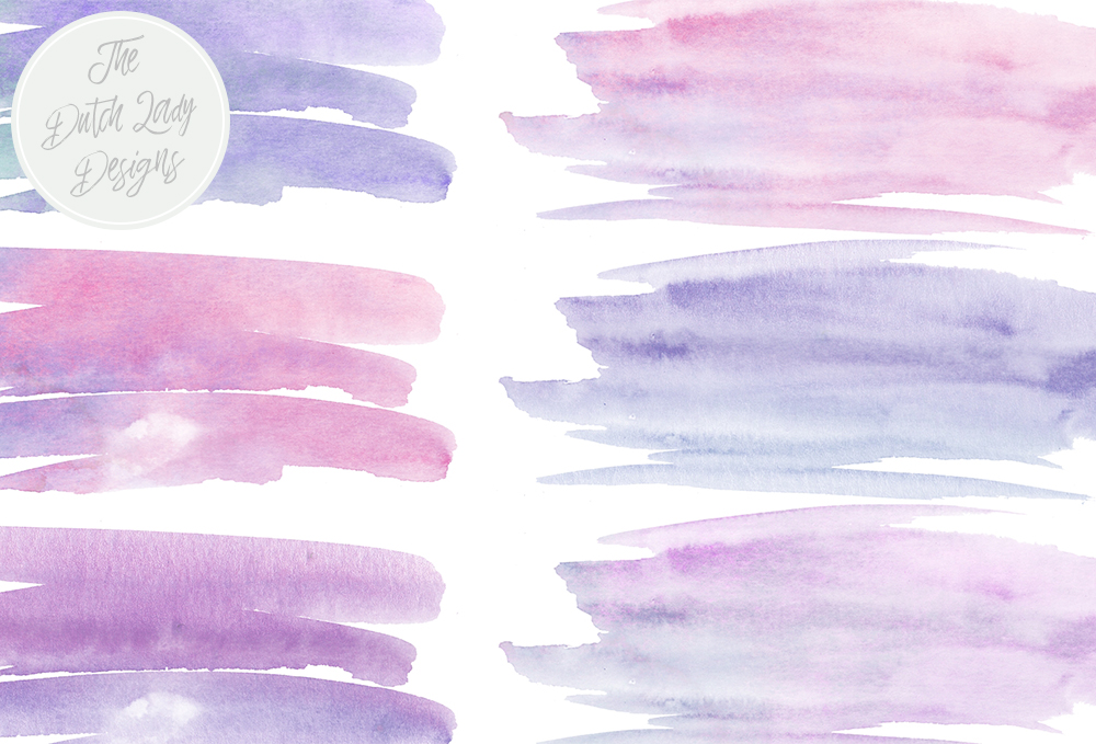1000x679 Purple Amp Blue Watercolor Brush Stroke Clipart By The Dutch Lady
