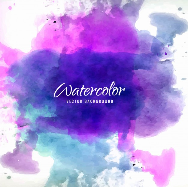 626x623 Purple And Blue Watercolor Background Vector Free Download