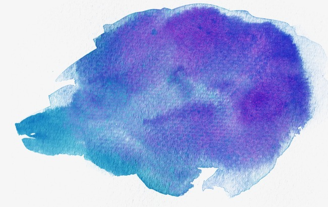 650x410 Blue And Purple Watercolor Effect, Watercolor Clipart, Gradient