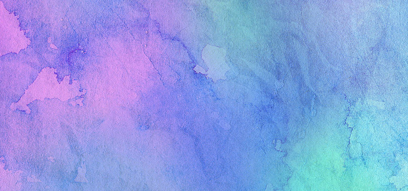 800x375 Blue And Purple Watercolor Poster Shading Background, Watercolor