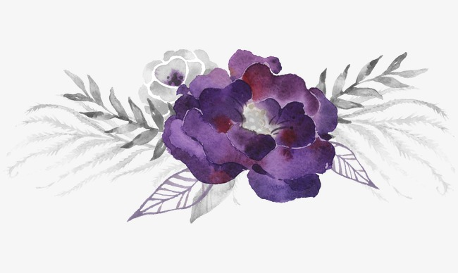 Purple Flower Watercolor At Getdrawings Com Free For Personal Use