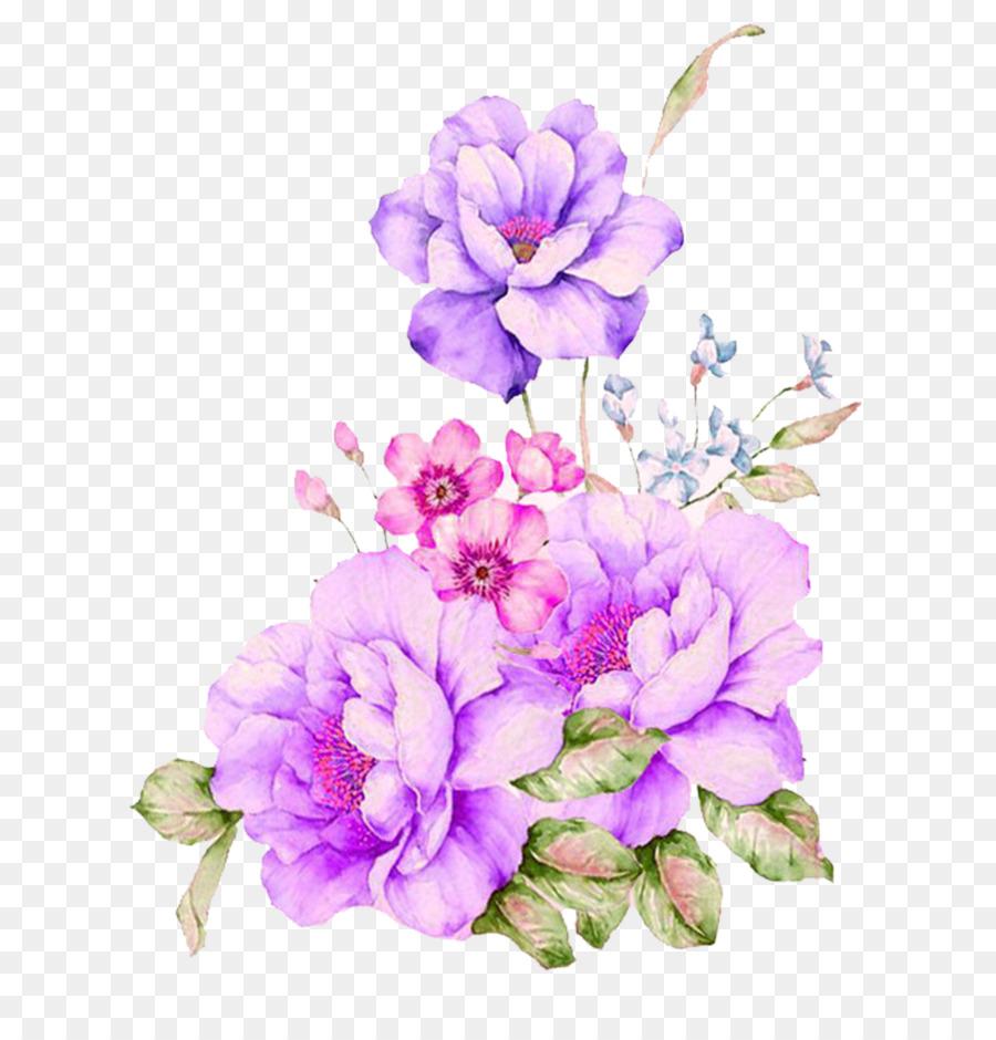 Purple Flower Watercolor at GetDrawings com | Free for
