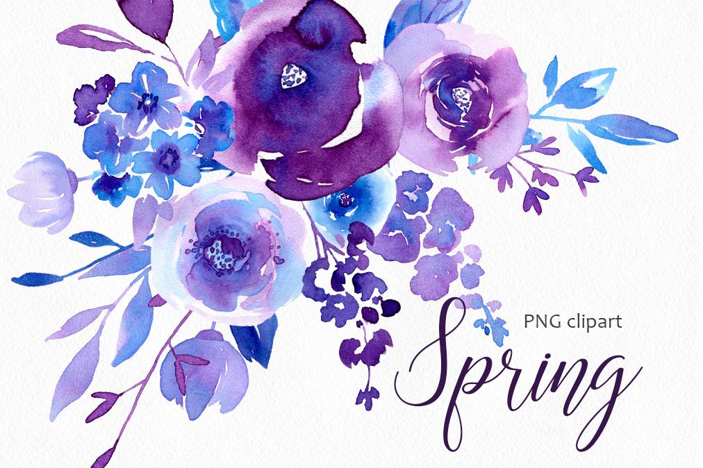 Purple Watercolor Flowers At Getdrawings Com Free For