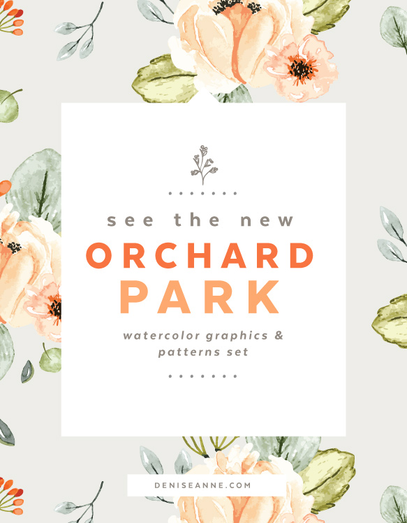 583x750 New Releases Orchard Park Watercolor Florals Denise Anne