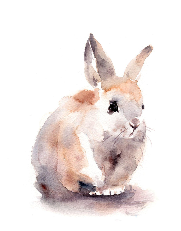1178x1500 Bunny Watercolor Print, Watercolor Painting Art Print, Cute Rabbit