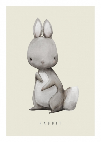 393x550 Rabbit Watercolor