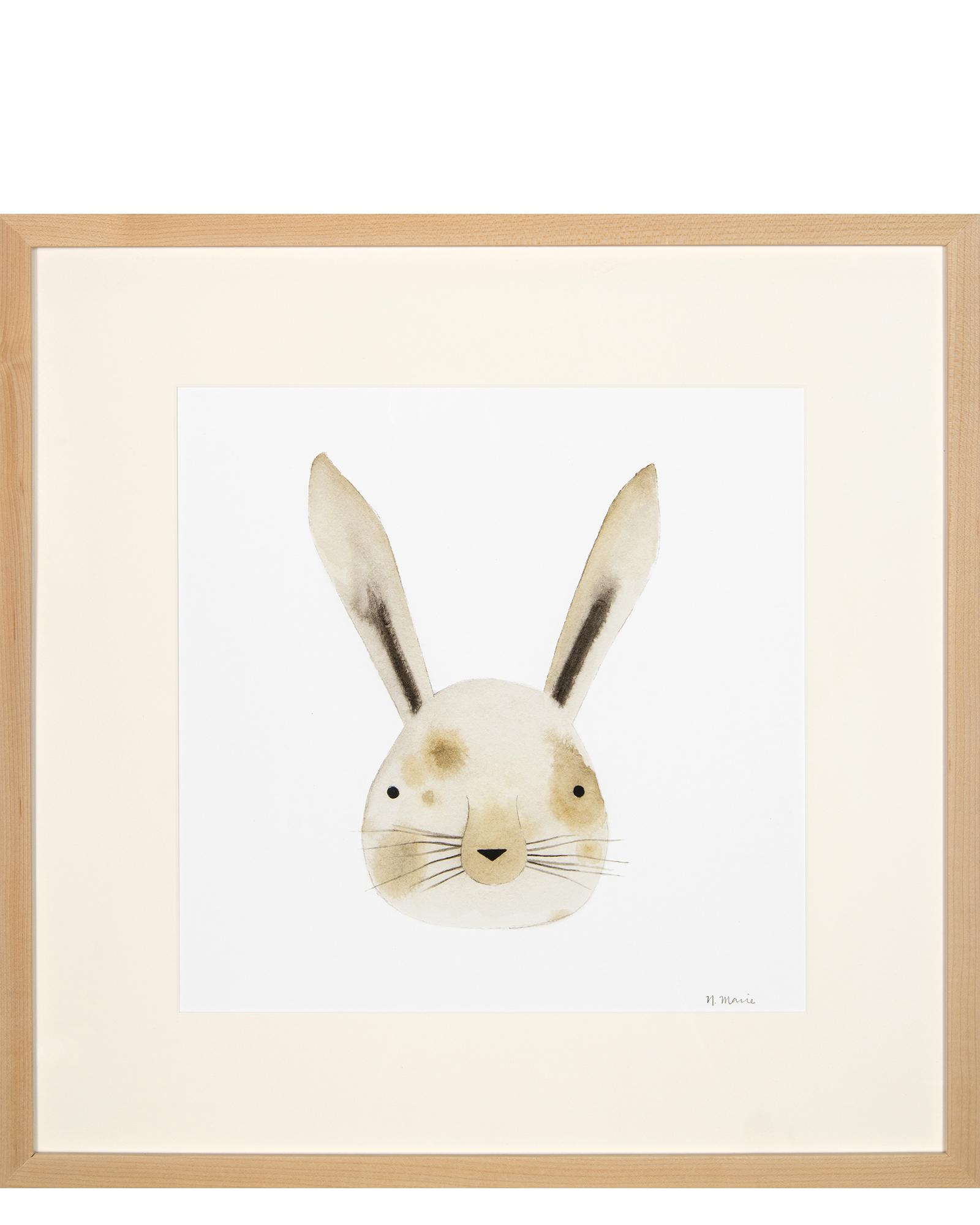 1600x2000 Rabbit Watercolor Face By Emma Jones