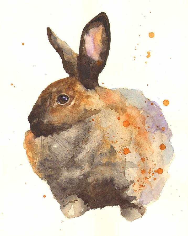 717x900 Watercolor Rabbit Print