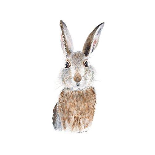 500x500 Baby Bunny Rabbit Watercolor Woodland Nursery Wall Art Print