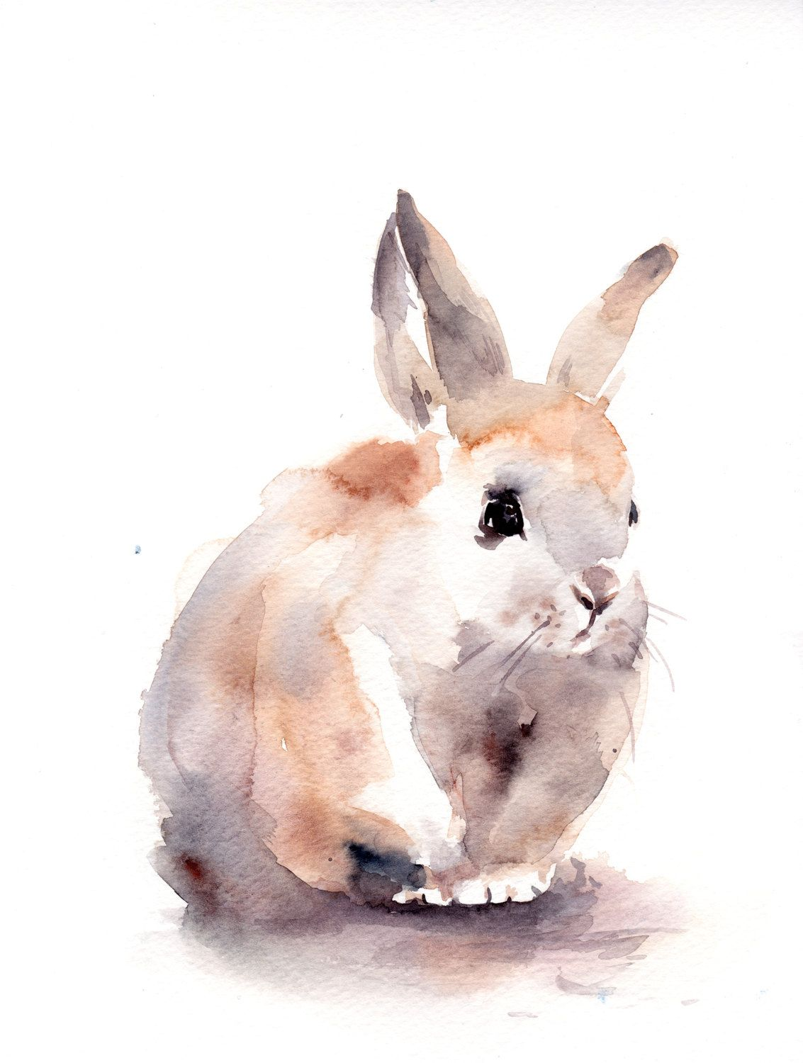 1133x1500 Bunny Painting, Original Watercolor Painting, Rabbit Painting