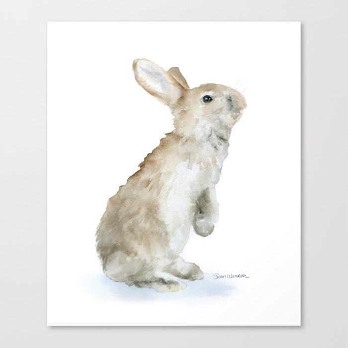 700x700 Bunny Rabbit Watercolor Canvas Print By Susanwindsor Society6