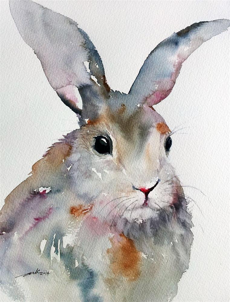 761x999 Gray Rabbit Original Fine Art By Arti Chauhan Nursery In 2018