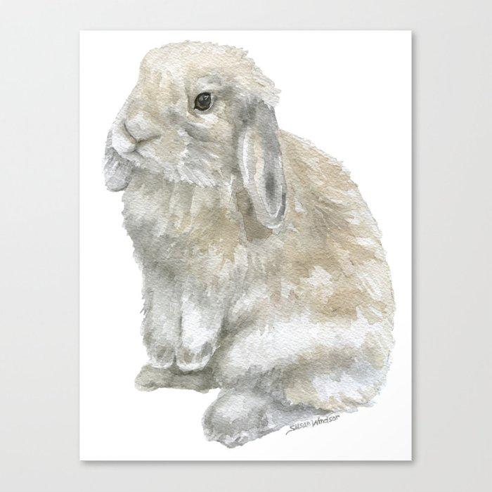 700x700 Lop Rabbit Watercolor Painting Bunny Canvas Print By Susanwindsor
