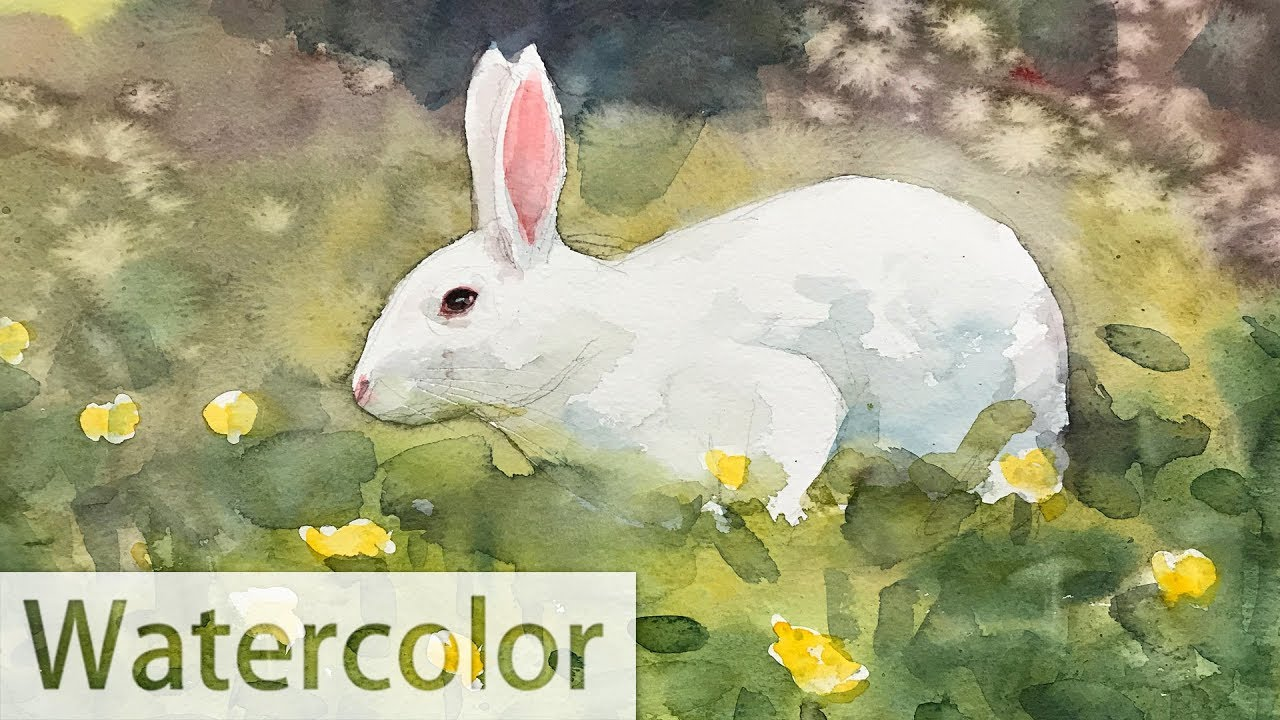 1280x720 Watercolor Painting Of A Rabbit