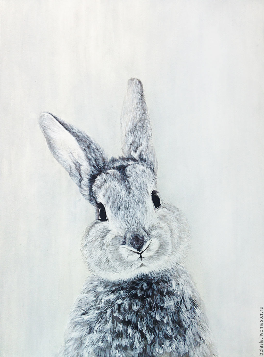 1024x1383 Watercolor Painting, Baby Rabbit Shop Online On Livemaster With