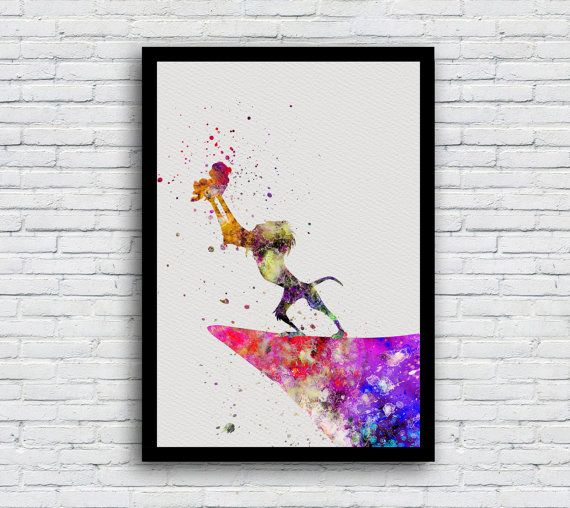 570x508 The Lion King Rafiki And Simba Art Watercolor By Multicolourart