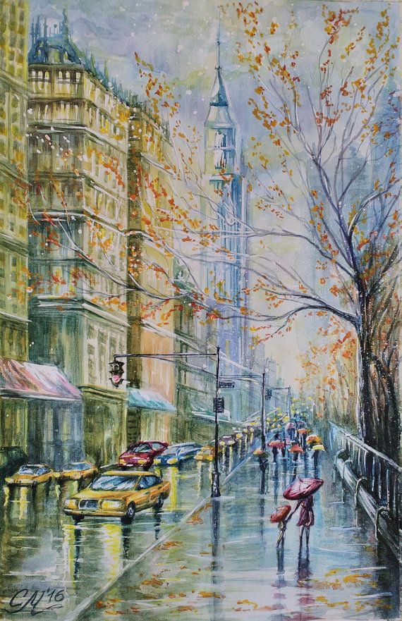 570x881 Commissioned Painting New York Painting Watercolor Painting