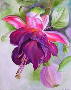 Realistic Watercolor Flowers