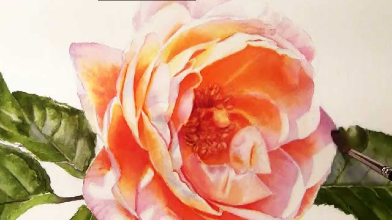 1280x720 How To Paint Realistic Stunning Flowers