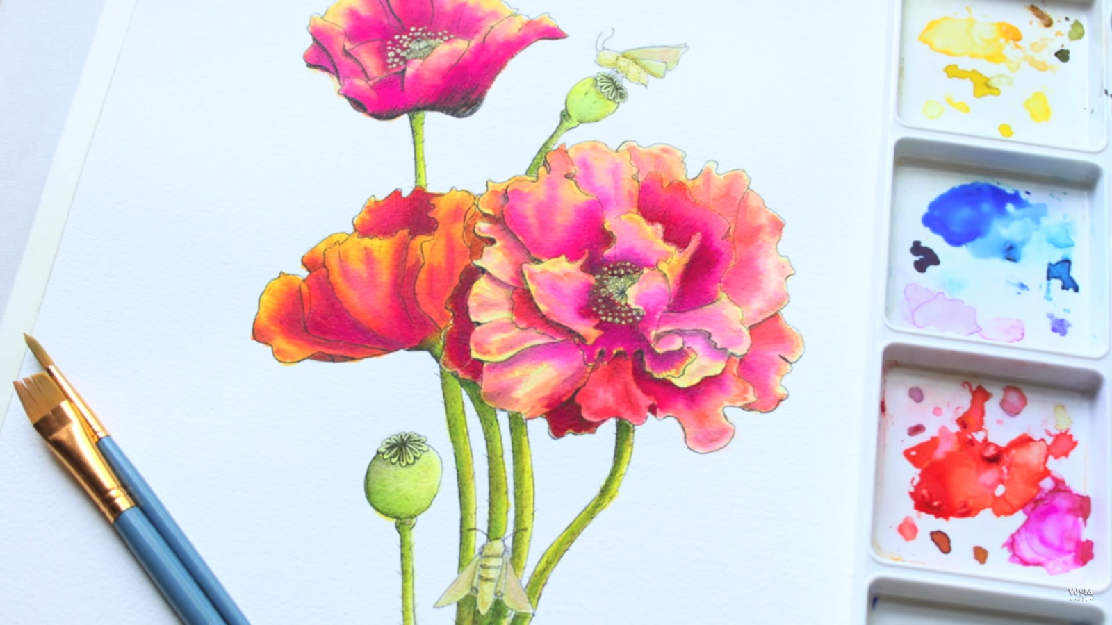 1600x900 The Easiest Way To Paint A Realistic Watercolor Flower By