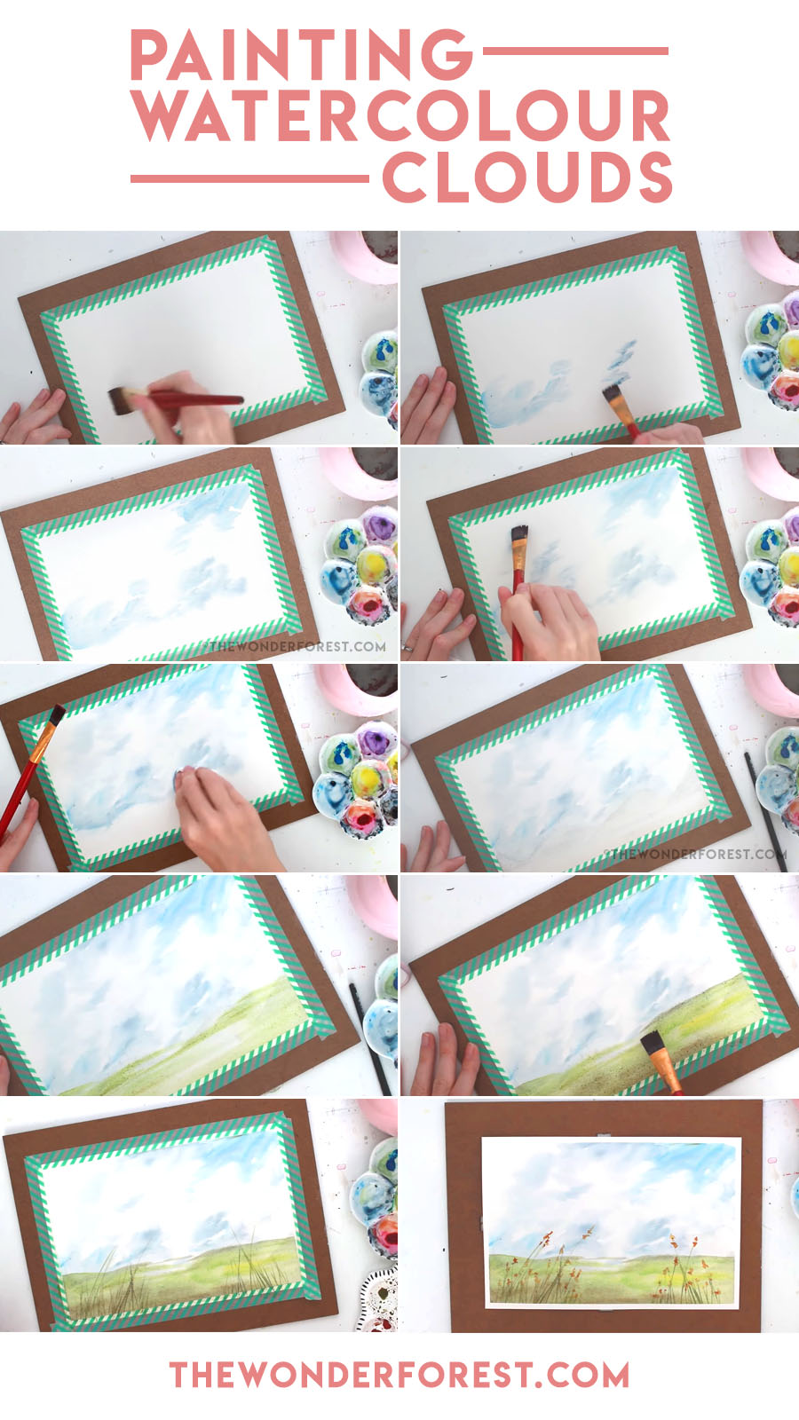900x1600 How To Paint Realistic Watercolour Clouds