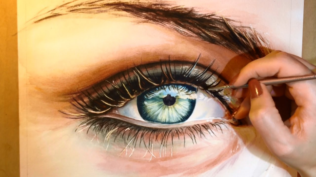 1280x720 How To Paint A Realistic Eye
