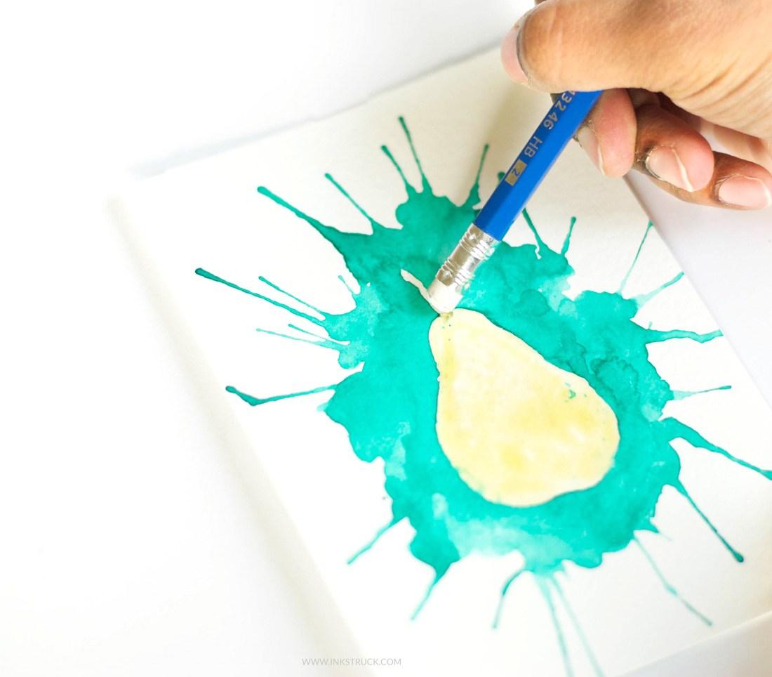 1100x964 Paint With Watercolors Using Straws Inkstruck Studio