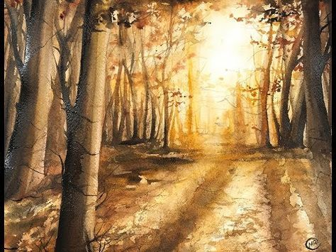 474x355 Realistic Forest In Watercolors Painting Tutorial