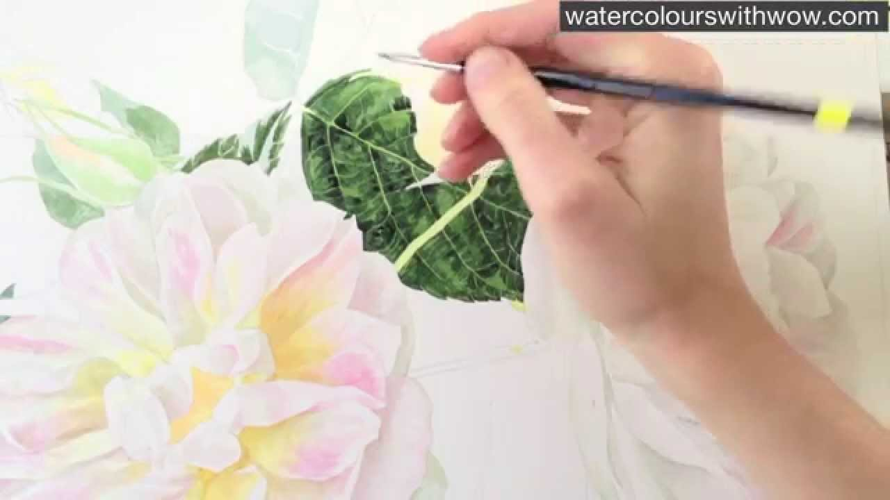 1280x720 Realistic Watercolor Painting Techniques