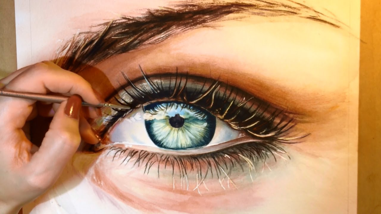 1280x720 Watercolor Paintings Of Eyes How To Paint A Realistic Eye