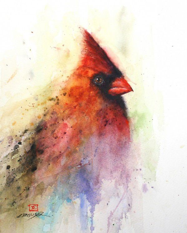 Red Cardinal Watercolor