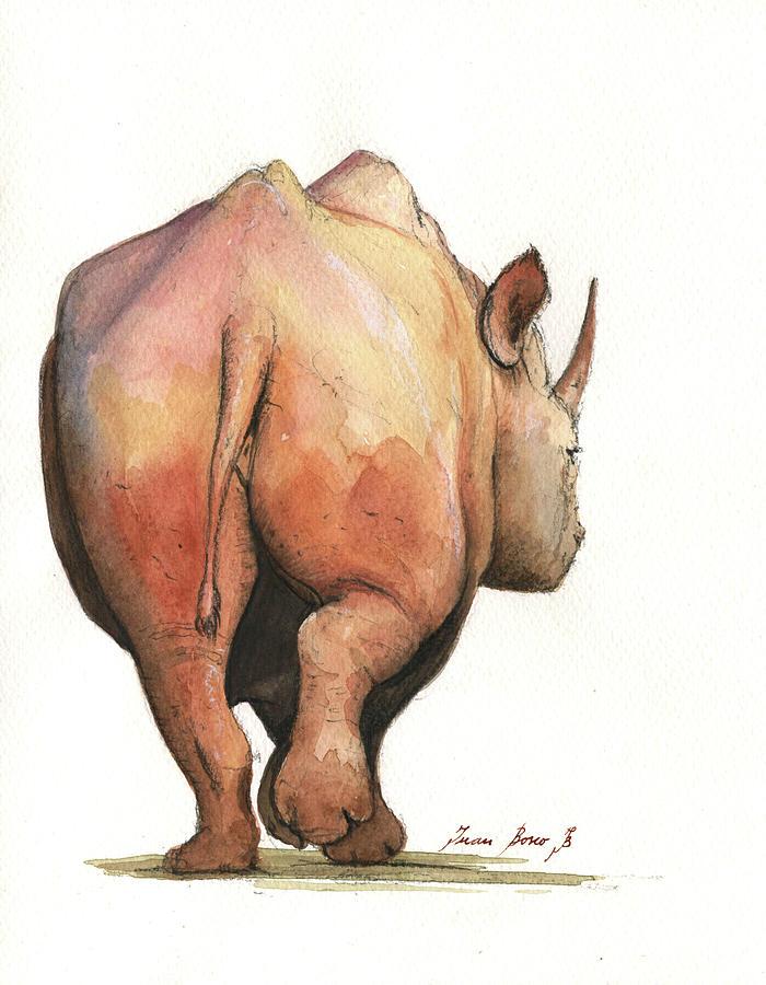 700x900 Rhino Back Painting By Juan Bosco