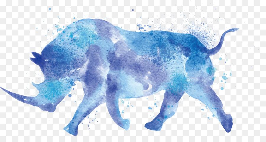 900x480 Rhinoceros Watercolor Painting Drawing