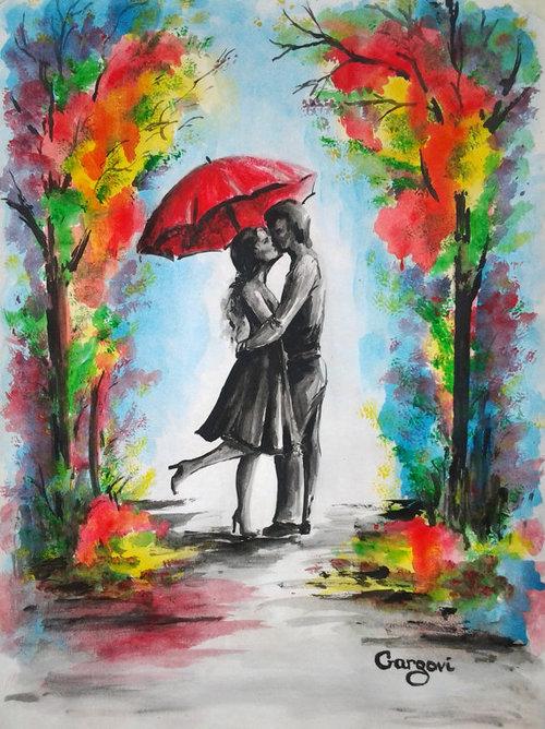 Romantic Watercolor Paintings