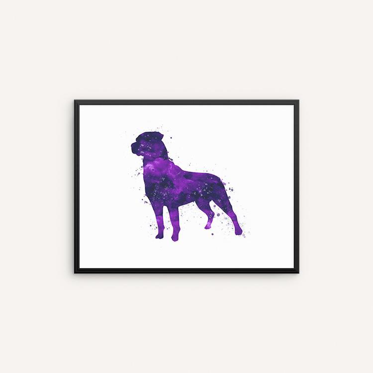 750x750 Rottweiler Watercolor Art Print, Dog Watercolor Wall Art, Wall