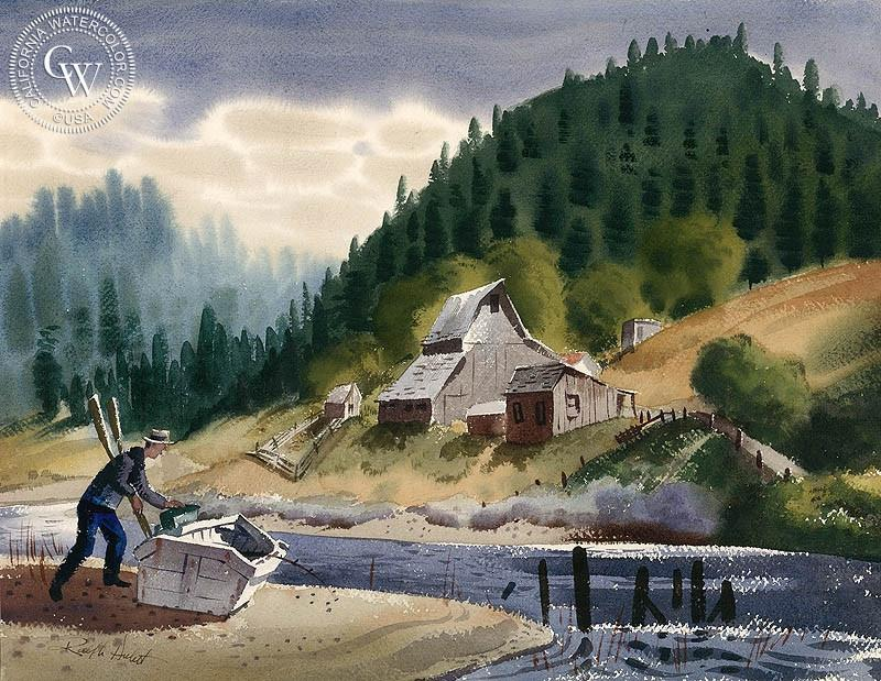 800x619 Russian River, South Of San Francisco, 1948, Art By Ralph Hulett