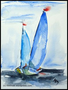 Sailboat Paintings Watercolor