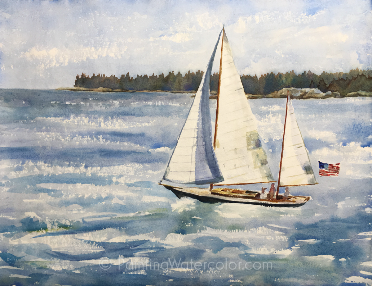 1200x921 Sailboat Painting Tutorial Watercolor Painting Tutorial