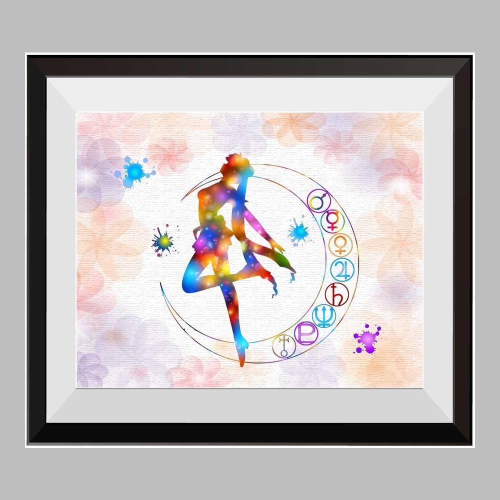 1000x1000 Pretty Soldier Sailor Moon Watercolor Print Nursery Decor Movie Poster