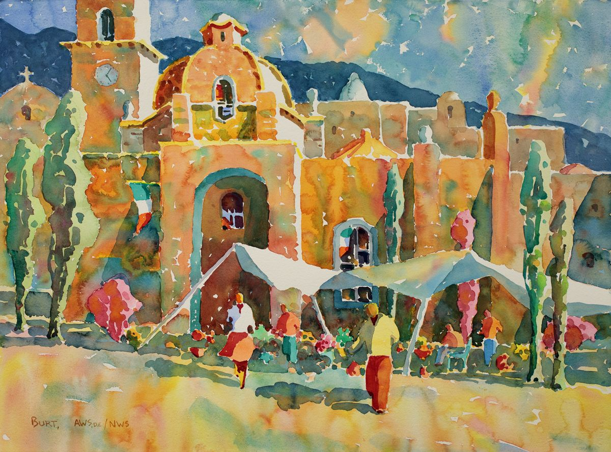 1200x889 Mexicoscape By Dan Burt, San Diego Watercolor Society Paintings