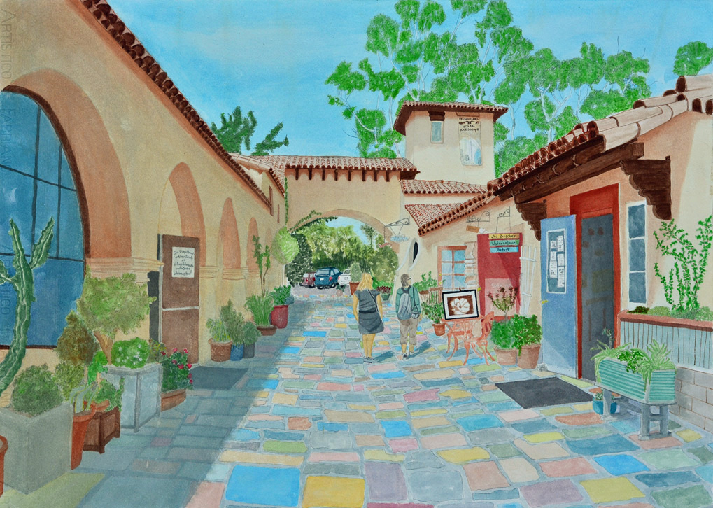 1019x726 Jw Buscher Watercolor Member San Diego Watercolor Society