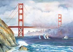 San Francisco Watercolor