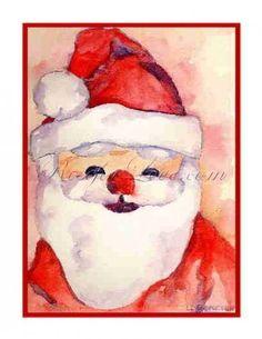 Santa Claus Watercolor