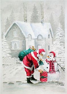 Santa Watercolor