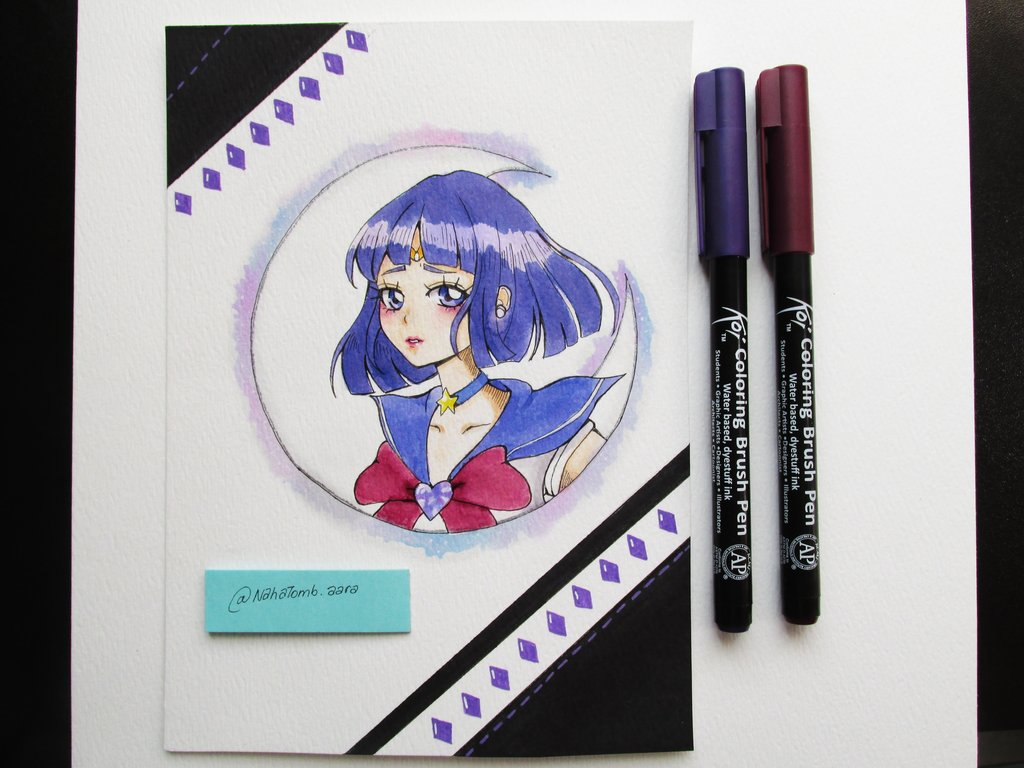 1024x768 Sailor Saturn Watercolor By Moophantomile